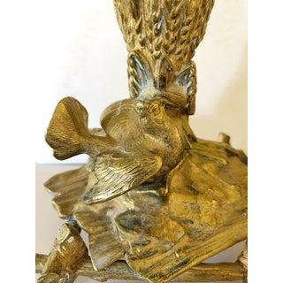 French Art Nouveau Bronze Bird Candlesticks Preview