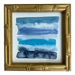 Original Abstract Watercolor Painting in Shades of Blue