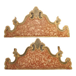 Pair of 18th Century Polychrome Headboards From Italy For Sale