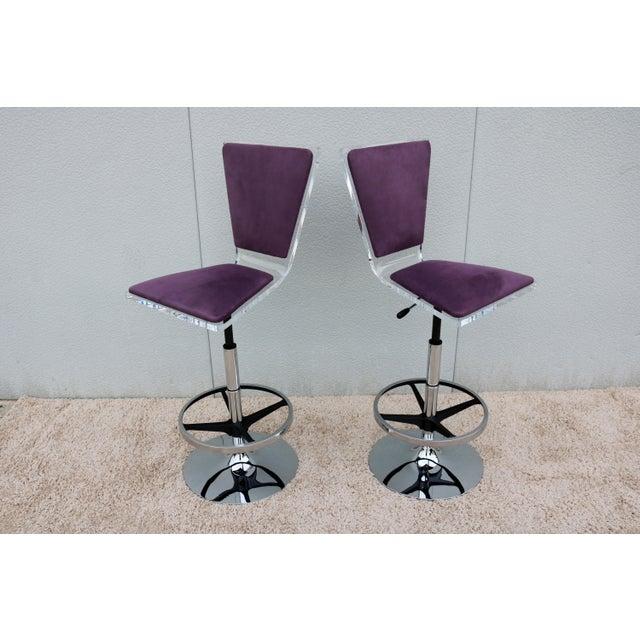 Stunning and Elegant Modern design Pair of Trigo Barstool, Acrylic one piece Triangulated Back and Seat design, Looks...