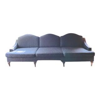Mid Century Custom Curved Back Sofa For Sale