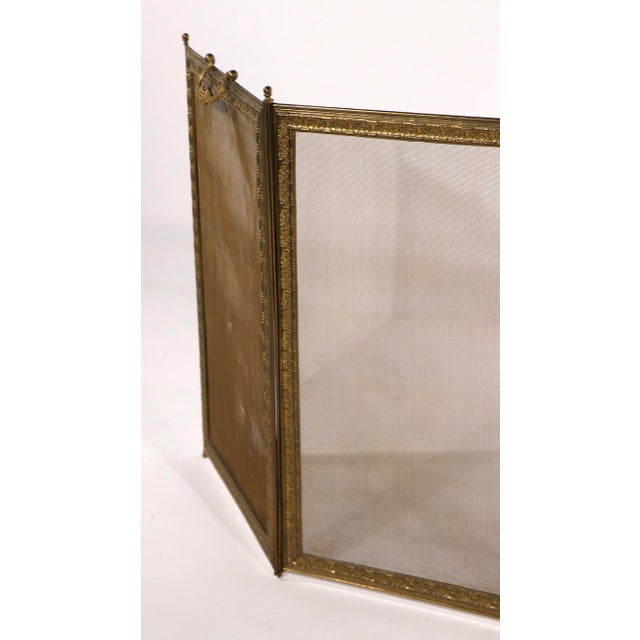 French Folding Fireplace Screen Spark Gard For Sale - Image 9 of 13