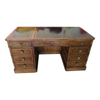 Sligh Lowry Vintage Executive Desk For Sale