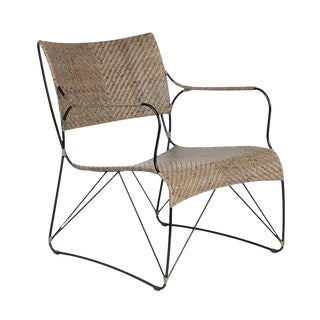 David Francis Indoor Seto Lounge Chair - Gray For Sale