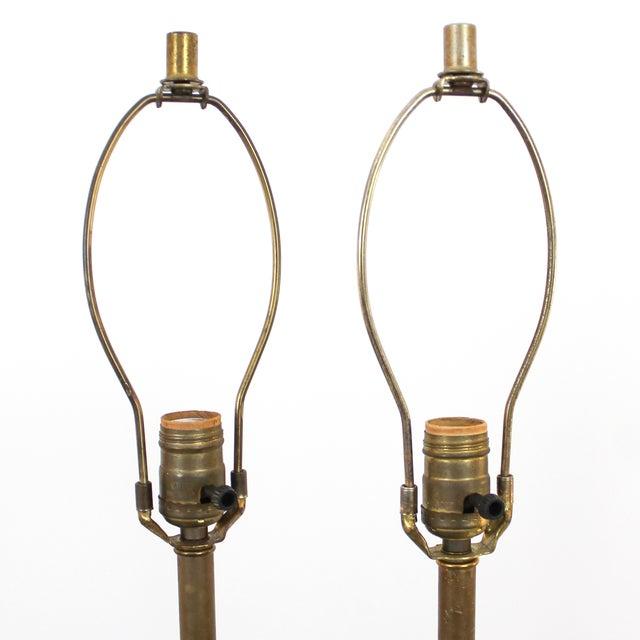 Danish Modern Walnut Tripod Lamps - A Pair - Image 6 of 10