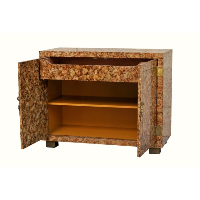 Asian Henredon Faux Tortoise Shell Cabinets - a Pair For Sale - Image 3 of 12