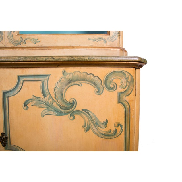 Painted Italian Cabinet with Glazed Doors - Image 4 of 6