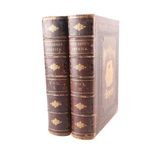 1872 Antique Picturesque America Books - a Pair For Sale