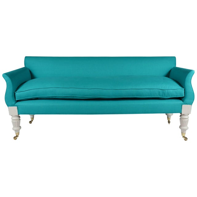 Painted and Upholstered Sofa, Circa 1830 For Sale