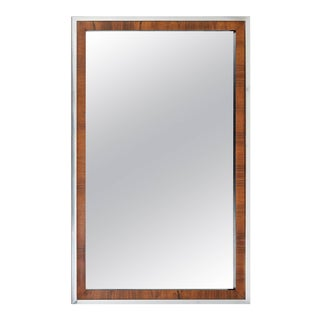 John Stuart Mid-Century Rosewood and Chrome Mirrors - 2 Available For Sale