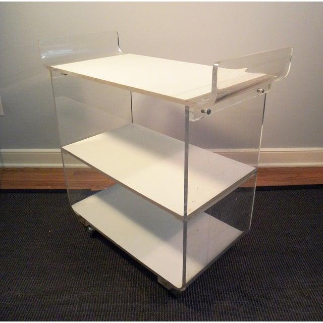 Mid-Century Acrylic Bar Cart - Image 3 of 7