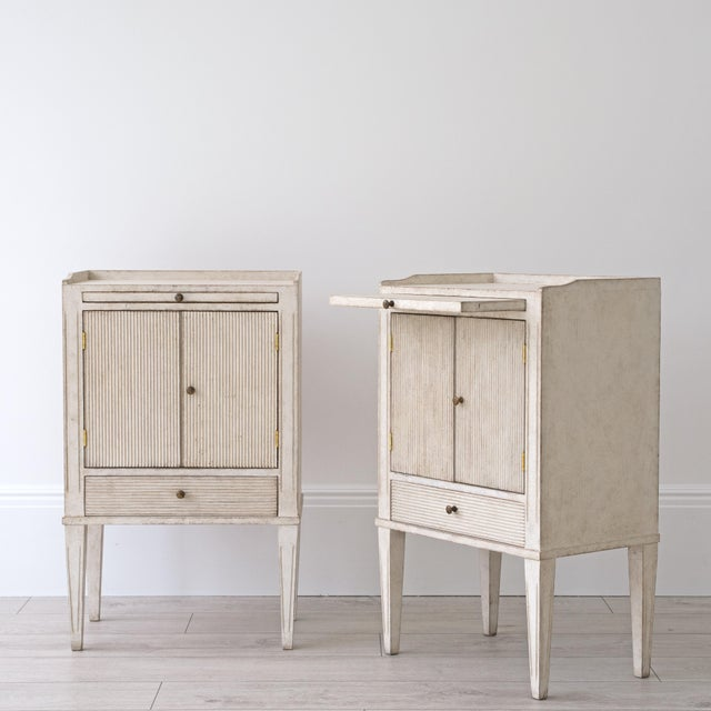 Not Yet Made - Made To Order Pair of Lotta Gustavian Style Nightstands For Sale - Image 5 of 13