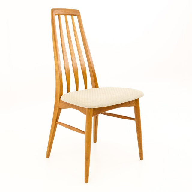 Vintage Mid Century Niels Koefoed Hornslet Danish Teak Eva Dining Chairs - Set of 6 For Sale - Image 11 of 13