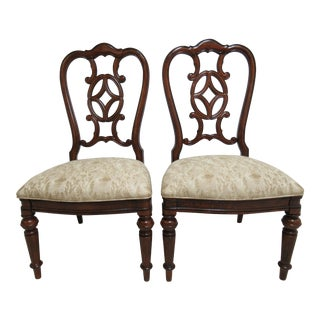Thomasville Fredericksburg Dining Room Side Chairs - A Pair For Sale