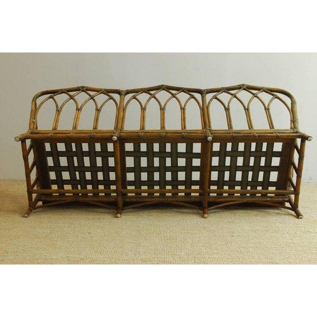 McGuire Organic Modern Bamboo Rattan Sofa For Sale - Image 10 of 13