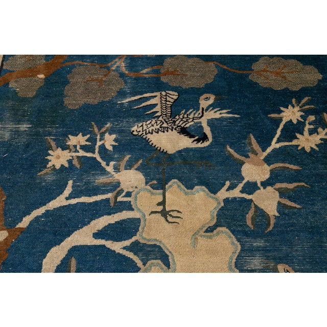 Early 20th Century Antique Art Deco Chinese Peking Wool Rug For Sale - Image 9 of 13