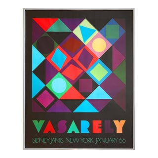 1960s Sidney Janis for Victor Vasarely Exhibition Poster, Framed For Sale