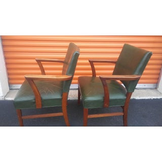 Vintage Leather Gunlocke Armchairs - A Pair Preview