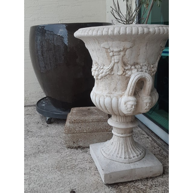 Vintage Della Robia Large Urn Planters - A Pair For Sale In Miami - Image 6 of 11