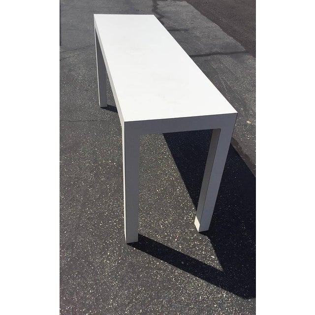 Mid Century Modern Parsons Table 1970s 60\