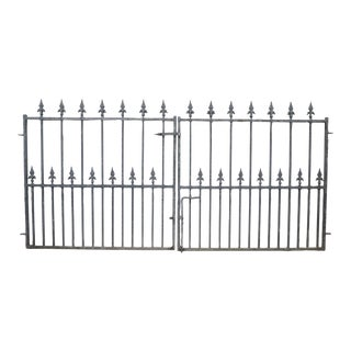 Vintage Wrought Iron English Garden Gates or Entry Gate For Sale