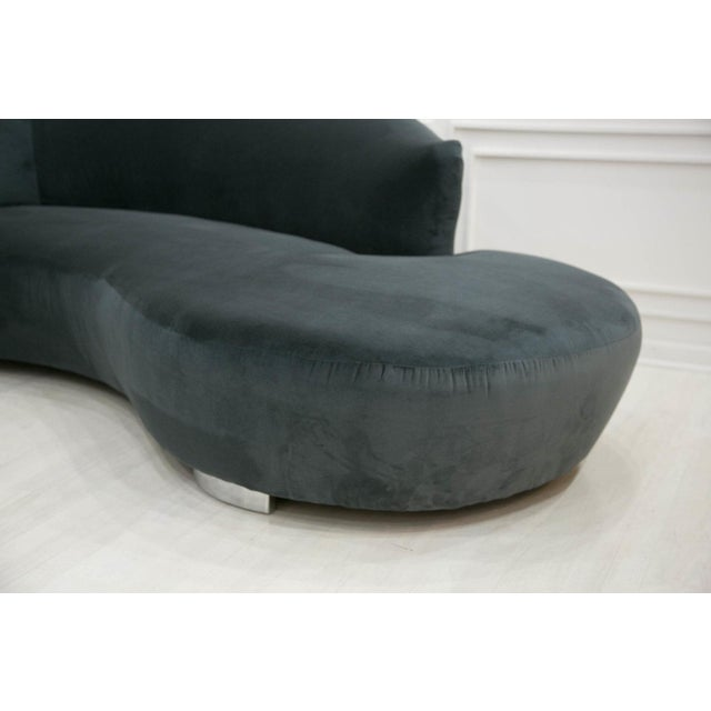 Vladimir Kagan Style Curved Cloud Sofa by Weiman Furniture For Sale In Chicago - Image 6 of 7