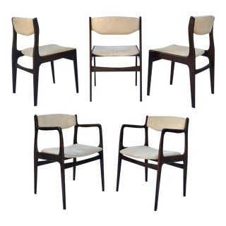 Mid-Century Modern Dining Chairs - Set of 5 For Sale