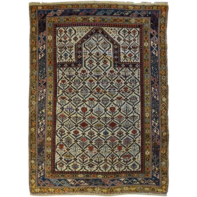 Antique Caucasian Marasali Shirvan Prayer Rug For Sale - Image 4 of 4