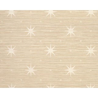 Hinson for the House of Scalamandre Big Trixie Wallpaper in Cream For Sale