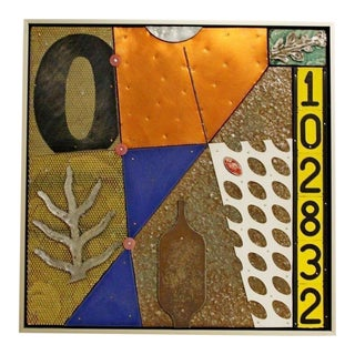 Contemporary Modern Original Brad Devlin Mixed Media Signed Intersection 2003 For Sale