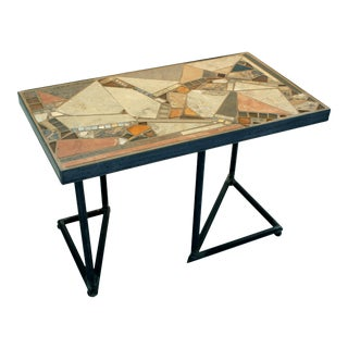 """""""Sonora Slant"""" Mosaic and Metal Coffee Table For Sale"""