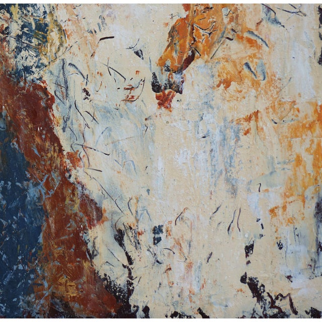 """Laurie MacMillan Laurie MacMillan """"Doubling Back"""" Abstract Painting For Sale - Image 4 of 5"""