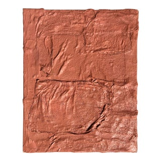 Pink Sculptural Painting by Virginia Chamlee For Sale