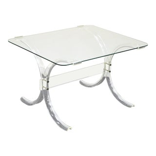 Lucite X-Form Butterfly Side End Table