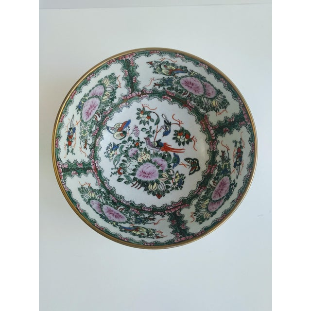 1970s Chinoiserie White Ironstone Decorative Bowl For Sale - Image 4 of 6