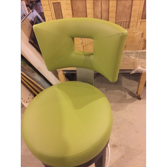 David Edward Barstools With Faux Leather Seats - 4 For Sale - Image 7 of 8