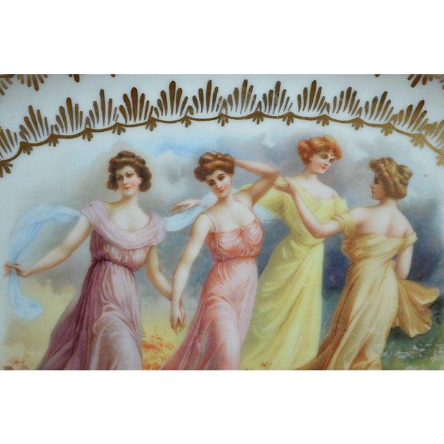 Porcelain Transfer Portrait Platter For Sale - Image 4 of 7