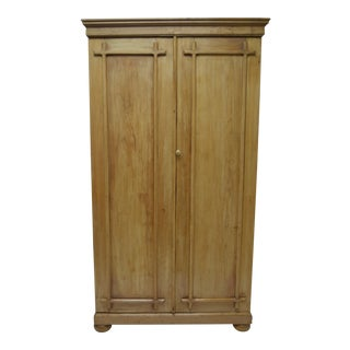 English Pine Two Door Armoire For Sale