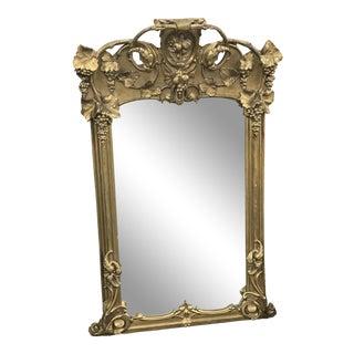 Mid-Century Art Nouveau Gold Gilt Mirror