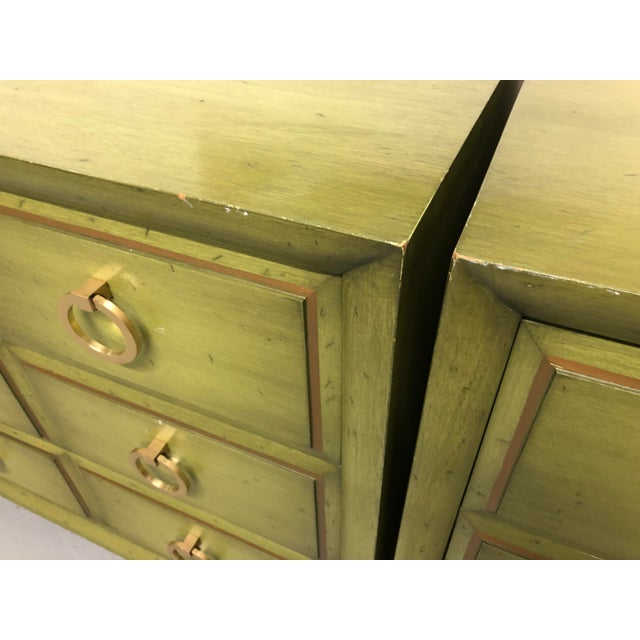 Boho Chic T.H. Robsjohn-Gibbings for Widdicomb Chests-a Pair For Sale - Image 3 of 13