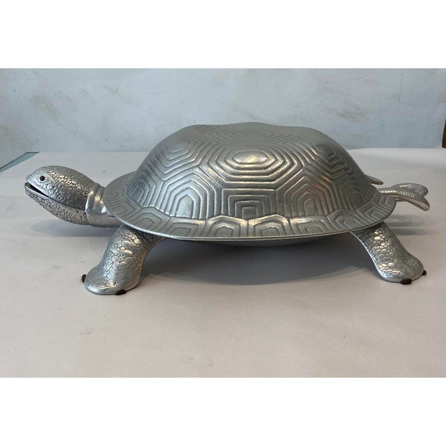 Mid-Century Modern Aruther Court Turtle Serving Dish With Ladle For Sale - Image 3 of 8