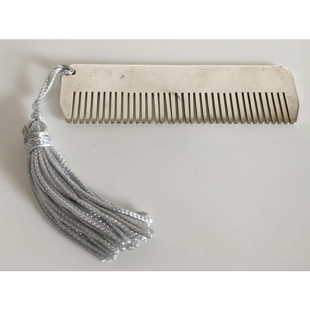 Children's Ralph Lauren Sterling Silver Baby Boy Comb with Blue Tassel For Sale - Image 3 of 4