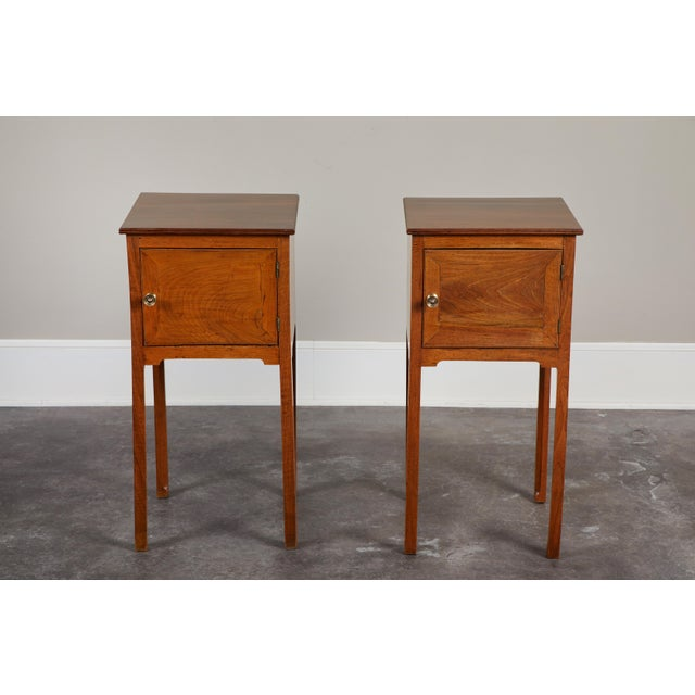Pair of English George III Walnut Side Tables - Image 2 of 9
