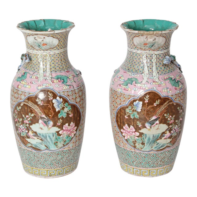 19th Century Pair of Chinese Vases For Sale