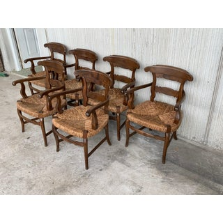 19th Century Set of Six Armchairs With Straw Seat Preview