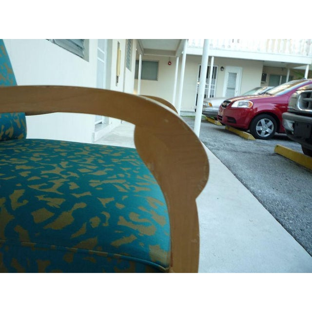 Mid-Century Modern Pair of J. Robert Scott Sally Sirkin Lewis Deco Lounge Chairs For Sale - Image 3 of 13