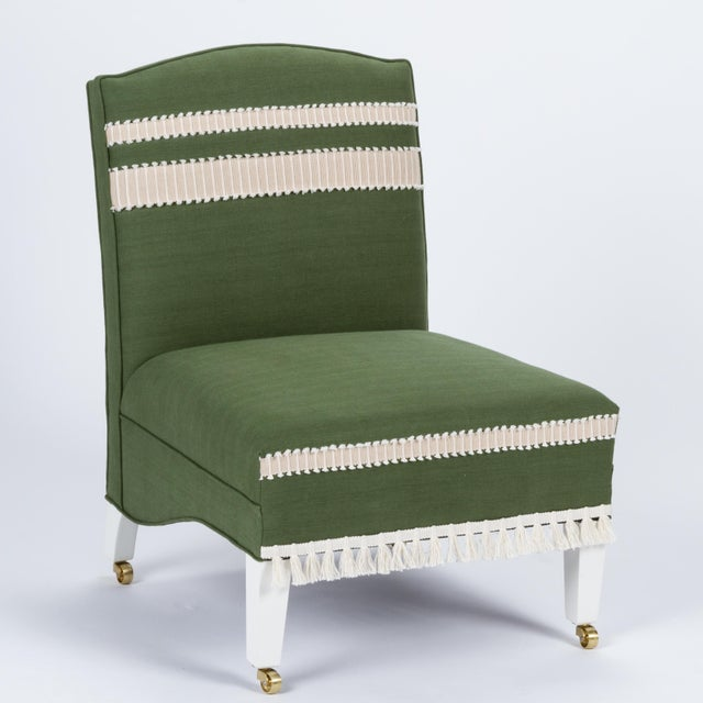 Casa Cosima Sintra Chair in Verdure Linen For Sale - Image 9 of 9