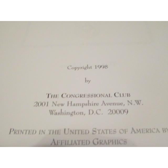 1st Lady's Luncheon at White House Tablecloth, Free Congressional Club Cookbook For Sale - Image 4 of 9