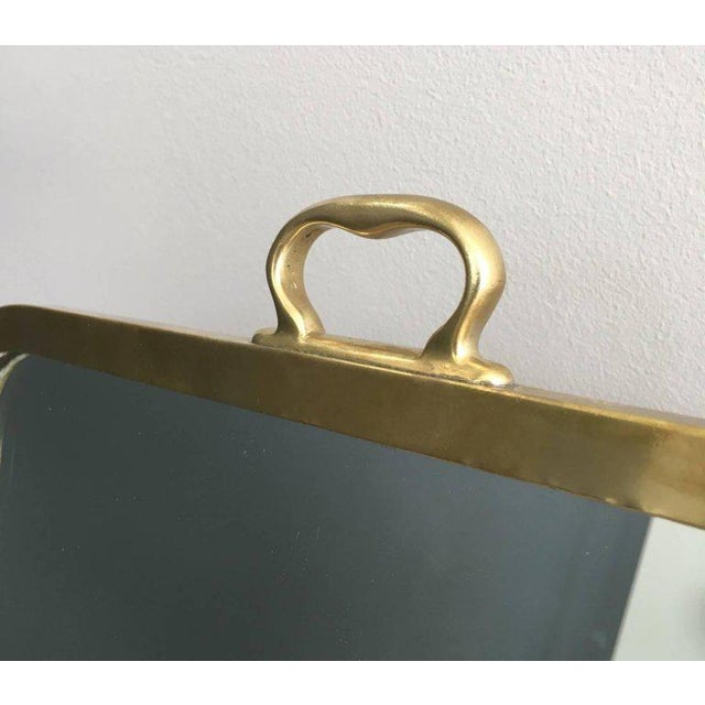Brass Dressing Mirror Made for Shoes For Sale - Image 4 of 11