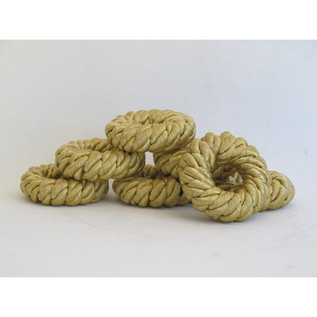 Gold Rope Napkin Holders - Set of 7 - Image 3 of 5